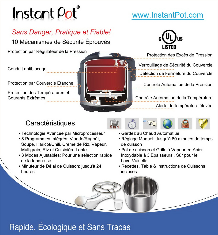 Instant Structures Series : Instant pot ip csg series specifications bestter choices