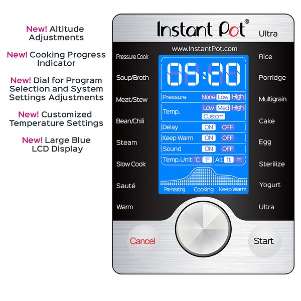 instant pot ultra control panel